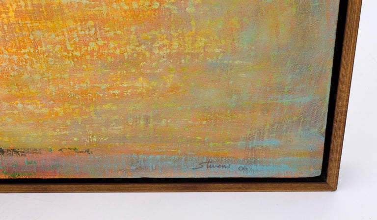 Hand-Painted Rick Stevens Oil Painting on Canvas Invoking the Unknown, Abstract Expressionist