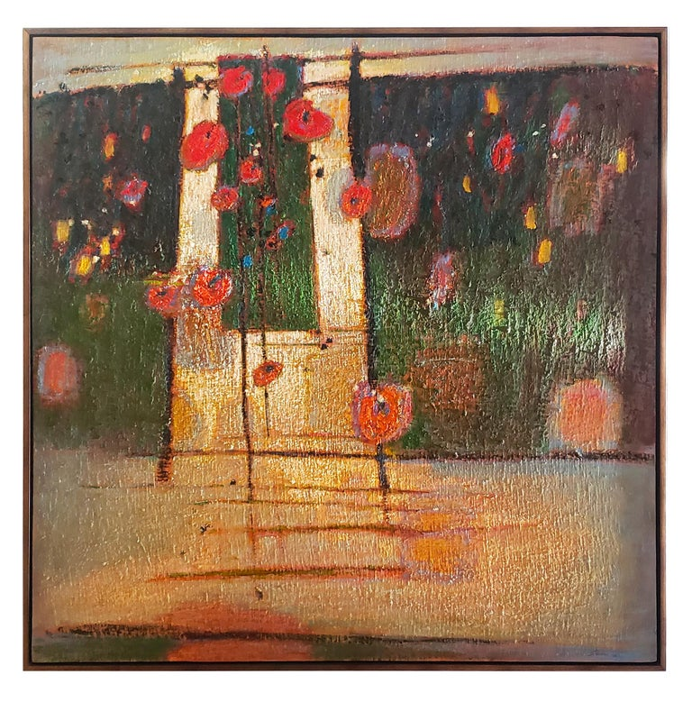 Rick Stevens Oil Painting on Canvas Invoking the Unknown, Abstract Expressionist In Good Condition In Dallas, TX