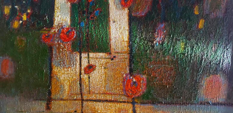 Contemporary Rick Stevens Oil Painting on Canvas Invoking the Unknown, Abstract Expressionist