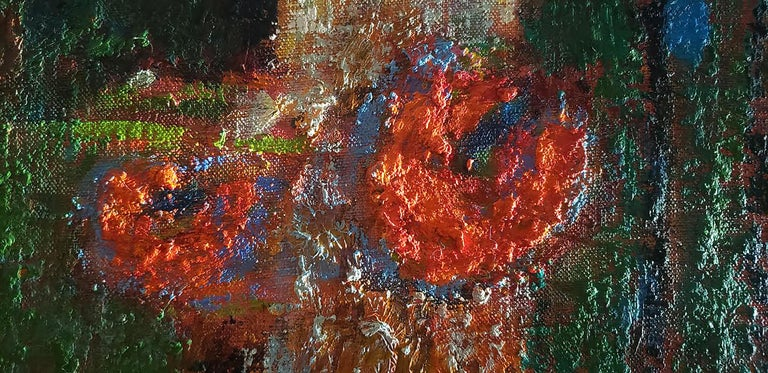 Rick Stevens Oil Painting on Canvas Invoking the Unknown, Abstract Expressionist 1