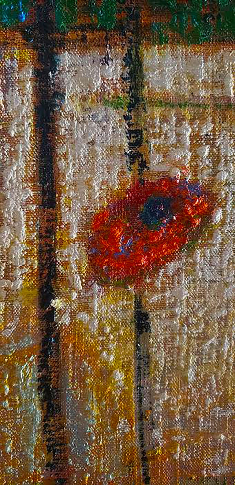 Rick Stevens Oil Painting on Canvas Invoking the Unknown, Abstract Expressionist 2