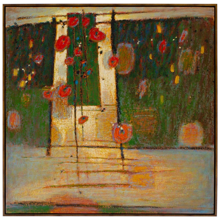 Rick Stevens Oil Painting on Canvas Invoking the Unknown, Abstract Expressionist