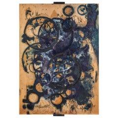 Ricker Handmade Original Abstract Artwork Made with Indigo Dye