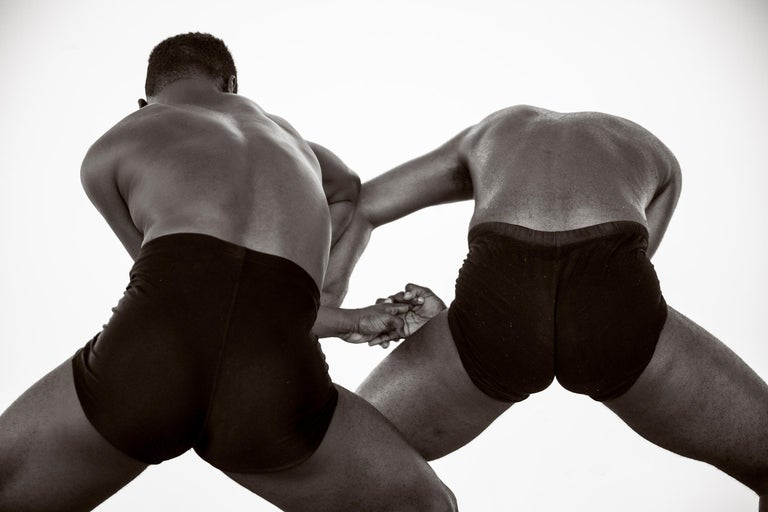 Ricky Cohete Nude Photograph - Dancing Men 3. Black and White Archival pigment print, Medium
