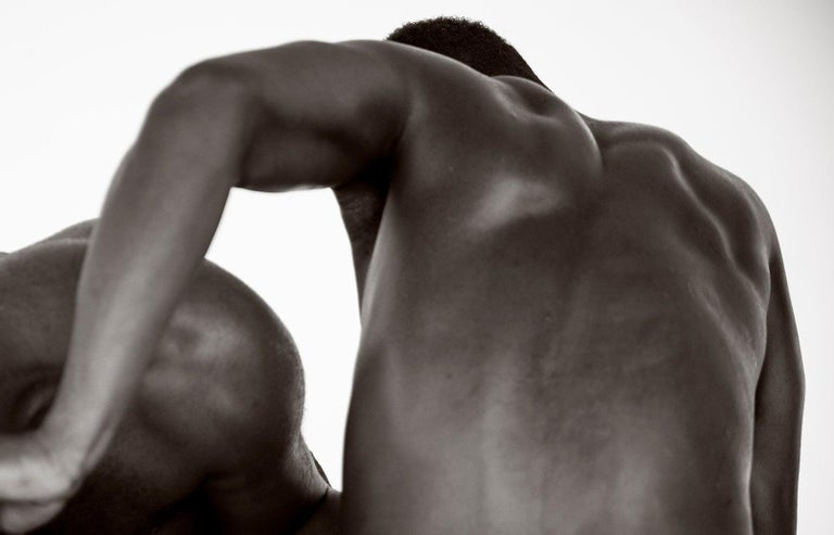 Black and White  Archival Pigment print Medium Ed of 10. Throughout his exploration of the movement of the body, with modern and ballet dancers, as well as a focal point on the male physique; he has concentrated on the curves and lines of their