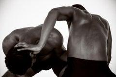 Dancing Men 4. Black and White Archival pigment print, Medium