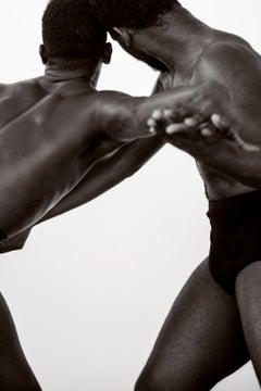Dancing Men, One.  Black and white Archival pigment print, Medium