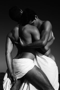 Embrace of Men. Small, Archival Pigment  Black and White print