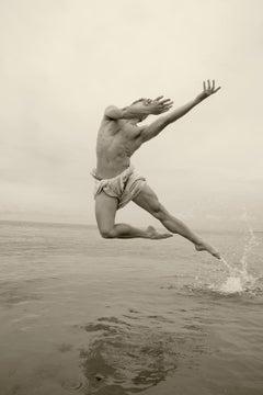 Man on Water. Archival Sepia pigment print, Medium