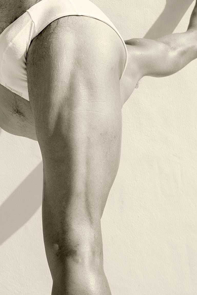Men Legs One. From the Motion Series, Medium - Contemporary Photograph by Ricky Cohete