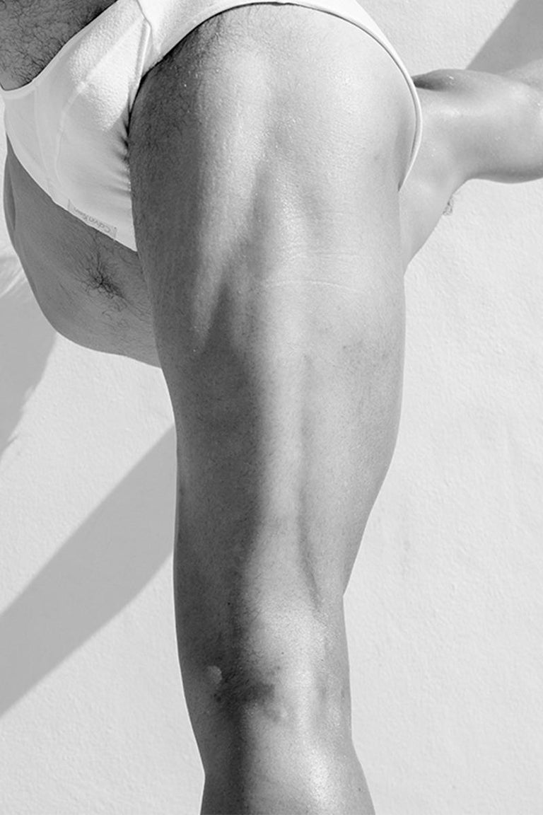 Men Legs One. From the Motion Series, Medium - Gray Nude Photograph by Ricky Cohete