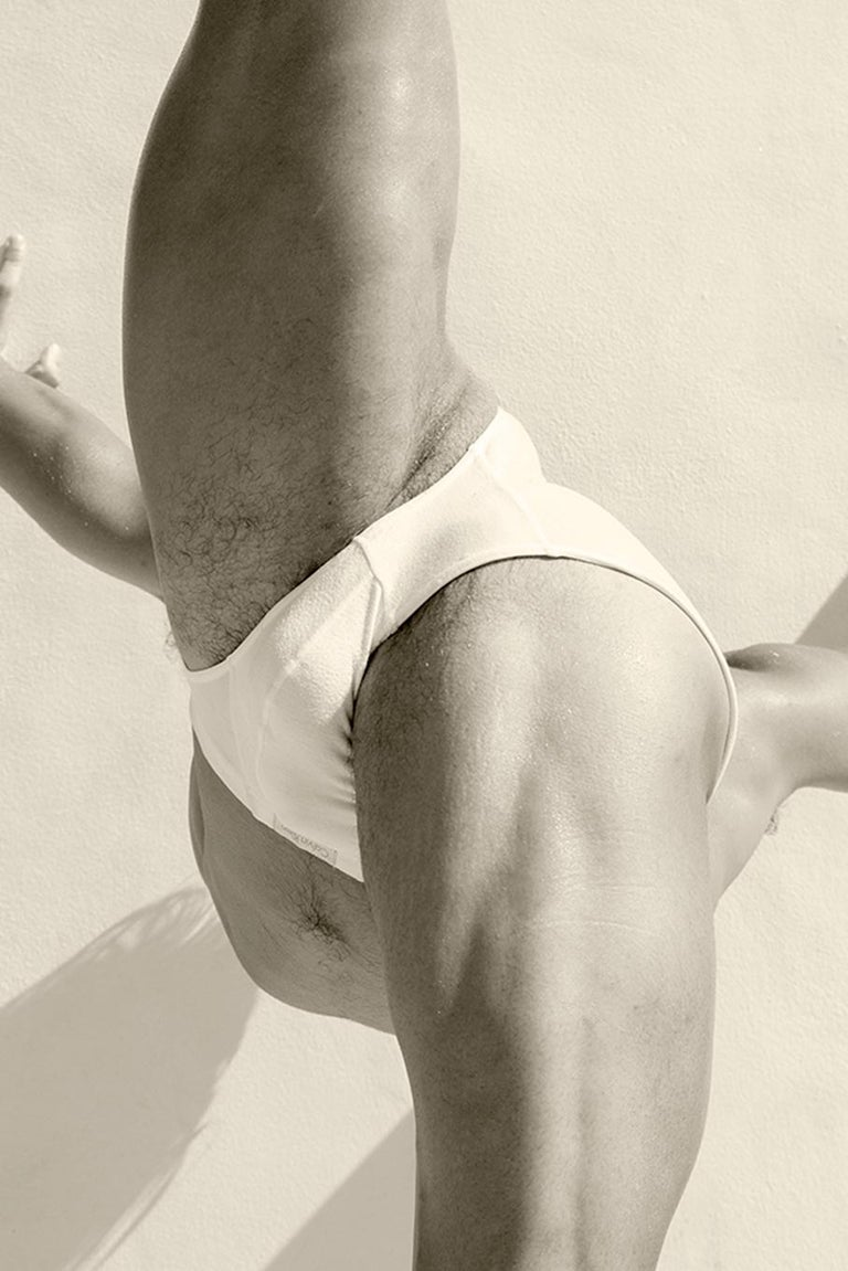 Men Legs One. From the Motion Series, Medium - Beige Nude Photograph by Ricky Cohete