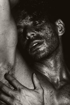 Men with Black Sand. Sepia Archival pigment print, Medium