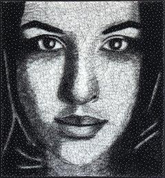 Sarah 5 - Nail and Thread Original Mixed Media String Artwork