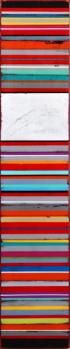 Tall Sunspot 10 - Modern Acrylic and Resin Artwork