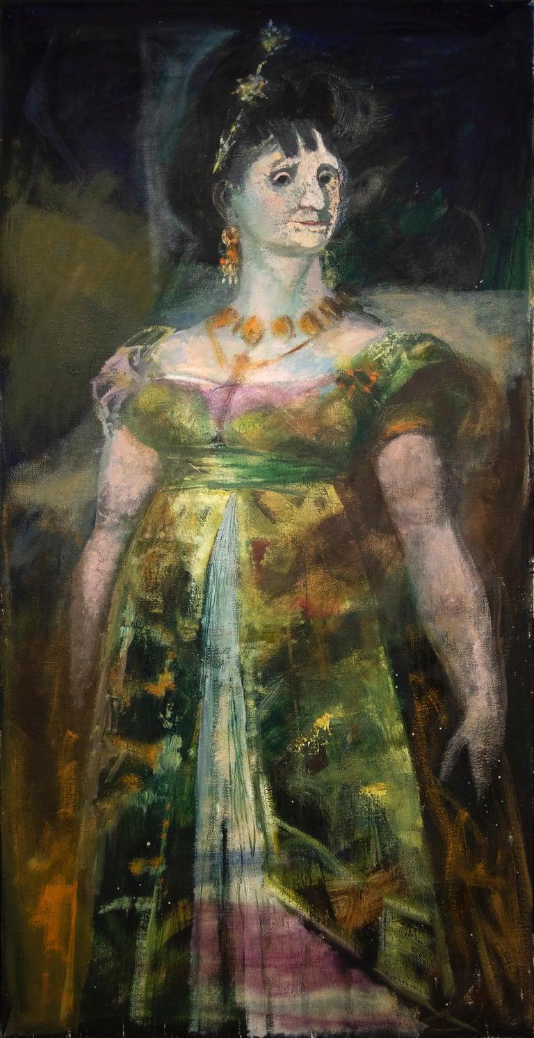 Rico Lebrun Portrait Painting - Maria Luisa (After Goya)
