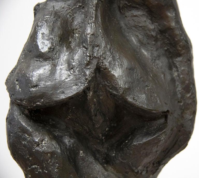 Bird-Headed Figure - Gold Figurative Sculpture by Rico Lebrun