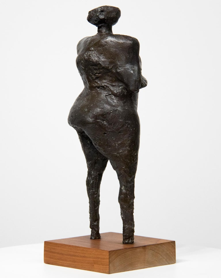 Woman with Arms Under Breasts - Contemporary Sculpture by Rico Lebrun