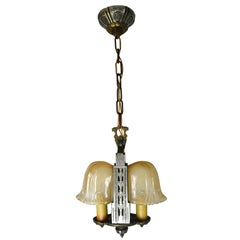 Riddle Art Deco 2 Candle Slip Shade Chandelier