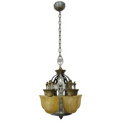 Riddle Art Deco 5-Light Slip Shade Chandelier