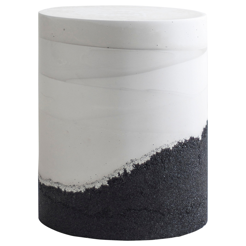 Ridge Drum, White Cement and Black Silica by Fernando Mastrangelo