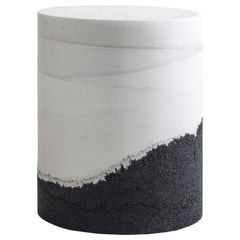 Ridge Drum, White Cement and Black Silica by Fernando Mastrangelo