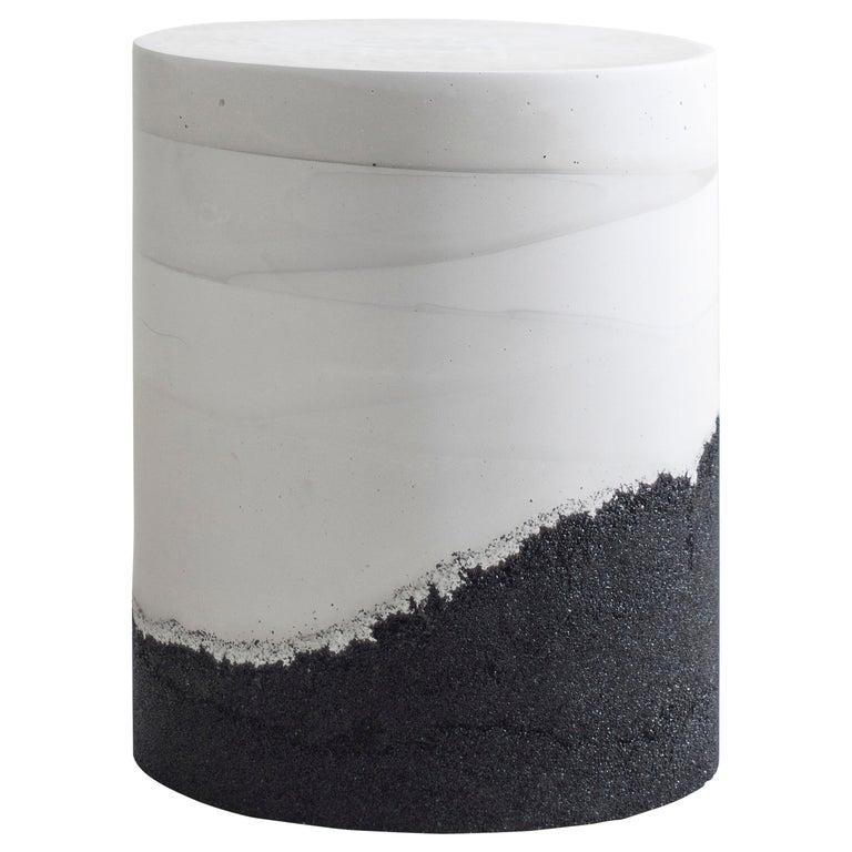Ridge Drum, White Cement and Black Silica by Fernando Mastrangelo For Sale