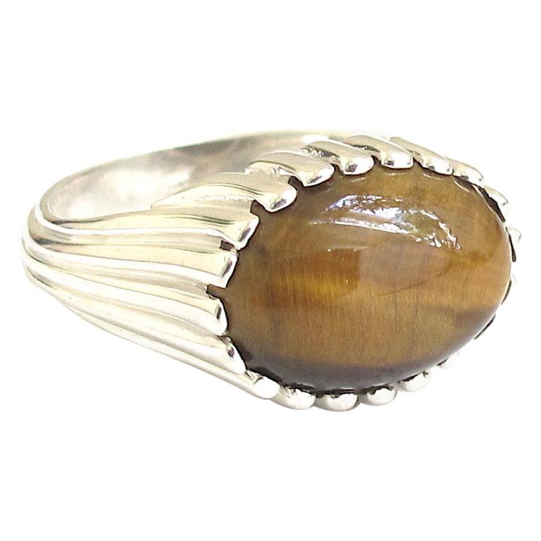 Jacqueline Rose Ridge Tiger's Eye Ring