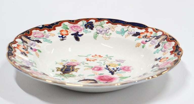 18th Century Ridgway English Ironstone Chinoiserie Plates with Simlay Pattern For Sale