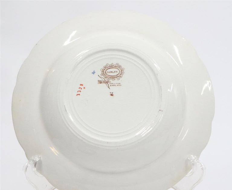 Ceramic Ridgway English Ironstone Chinoiserie Plates with Simlay Pattern For Sale