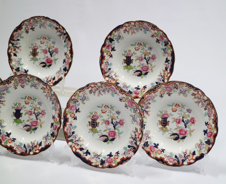 Ridgway English Ironstone Chinoiserie Plates with Simlay Pattern For Sale 1