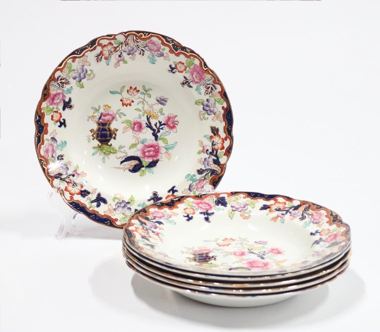 Ridgway English Ironstone Chinoiserie Plates with Simlay Pattern For Sale 2