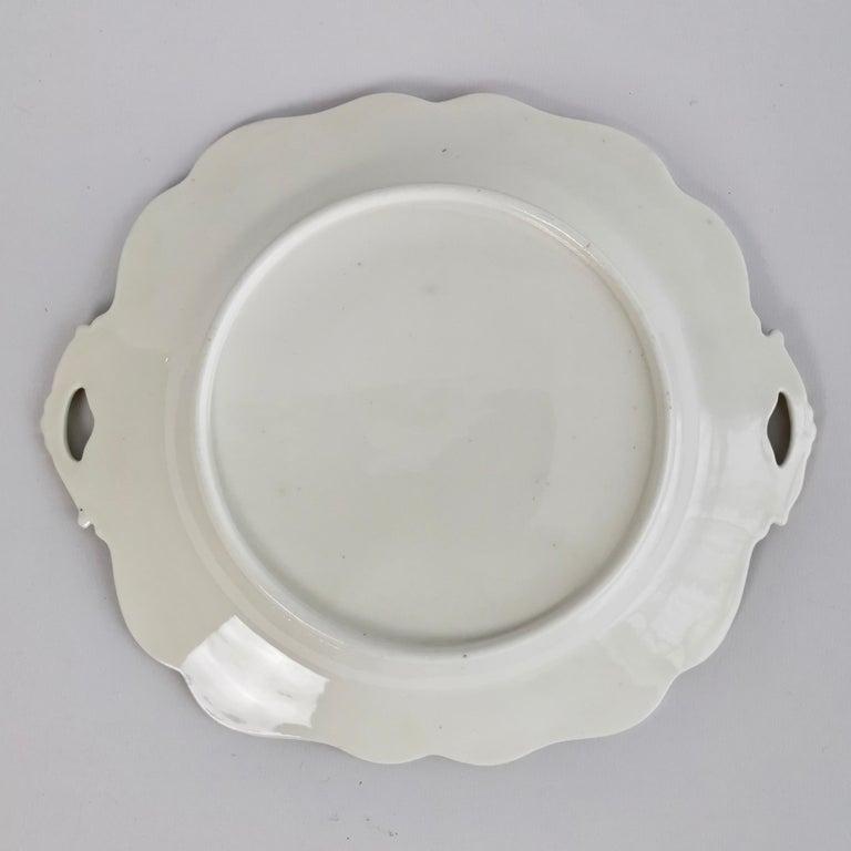 Ridgway Twin-Handled Porcelain Plate, Cobalt Blue, Gilt and Landscape circa 1825 For Sale 6