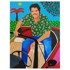'Riding High' Portrait Painting by Alan Fears Pop Art
