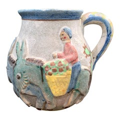 """Riding to Market,"" Charming and Important Modern Pitcher by ICS, Likely Gambone"
