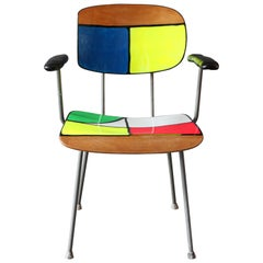"Rietveld Chair Contemporized by Atelier Staab Entitled ""Peak of a Century Neon"""