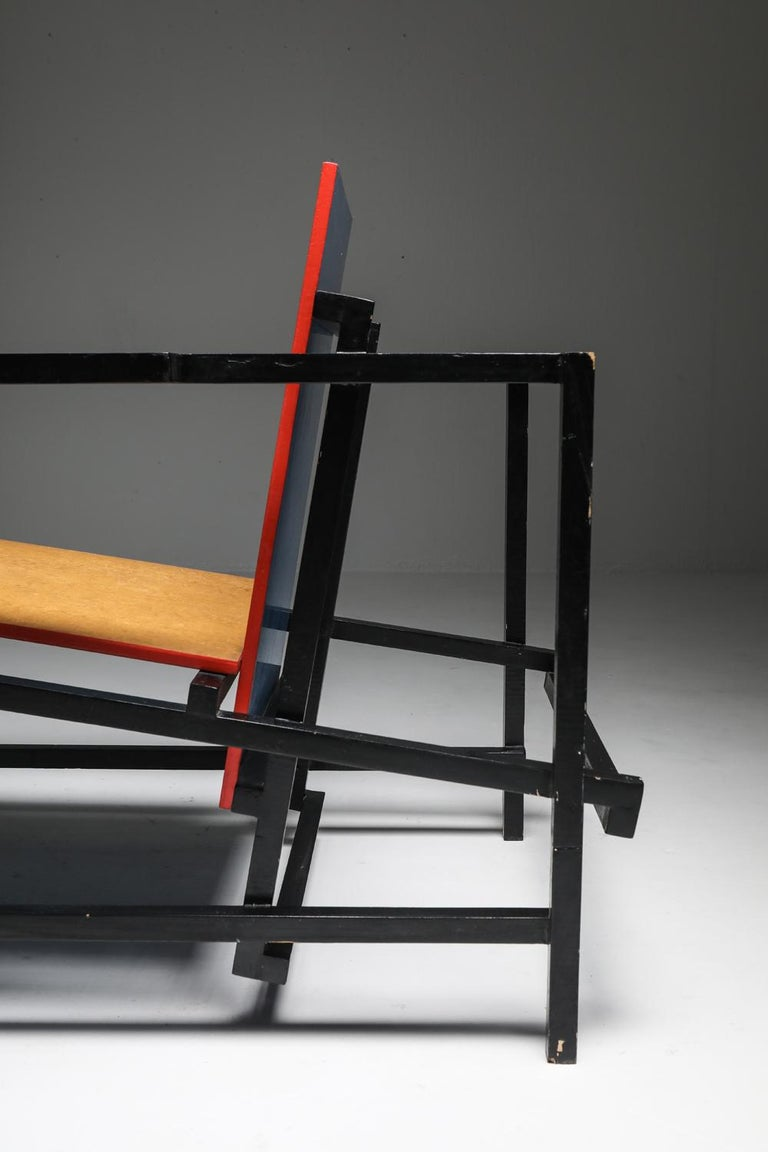 Rietveld Style Armchair For Sale 8