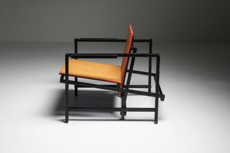 Rietveld Style Armchair In Good Condition For Sale In Antwerp, BE