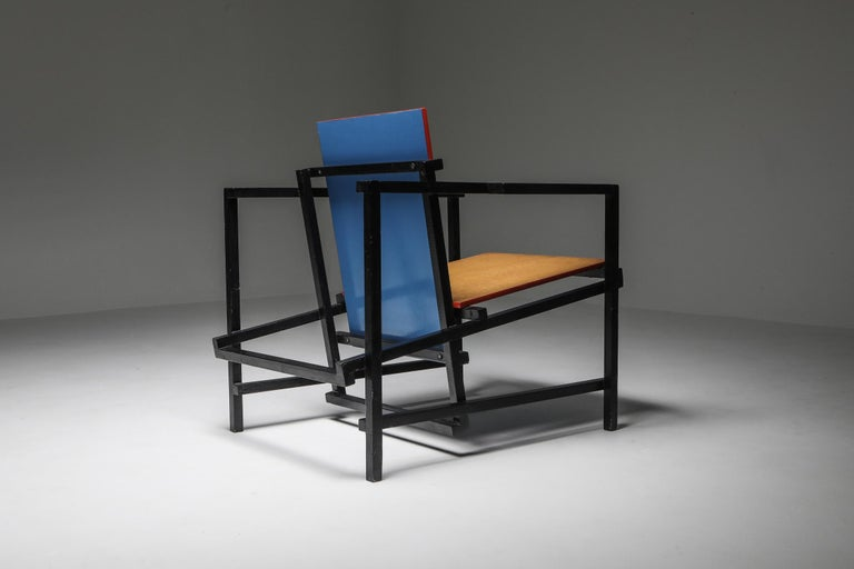 20th Century Rietveld Style Armchair For Sale