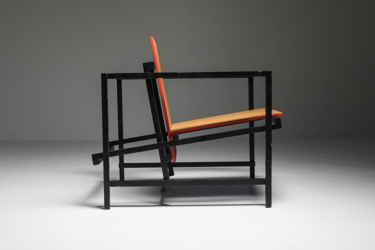 Wood Rietveld Style Armchair For Sale