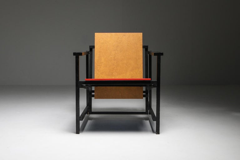 Rietveld Style Armchair For Sale 1
