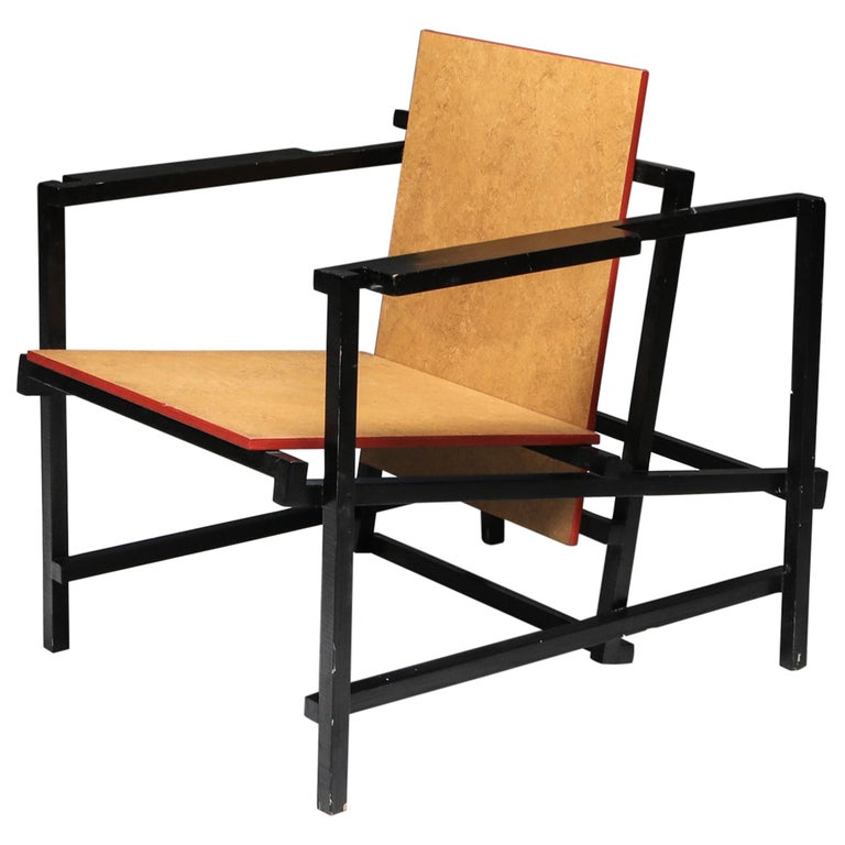 Rietveld Style Armchair For Sale
