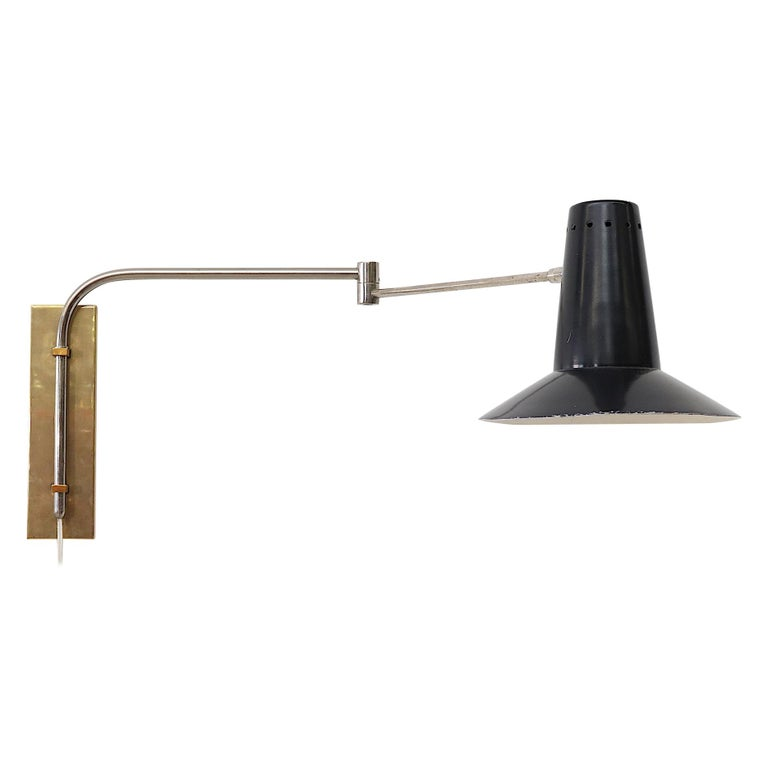 Rietveld Style Industrial Wall Mount Lamp For Sale