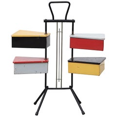 Rietveld Style Sewing Box by J.Teders for Metalux