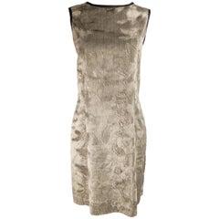 Rifat Ozbek Vintage Faux Fur Sleeveless Shift Dress