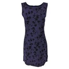 Rifat Ozbek Vintage Flocked Velvet on Wool Party Dress