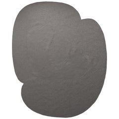 Riff Rug from Souda, Large, Natural Wool, Dark Grey