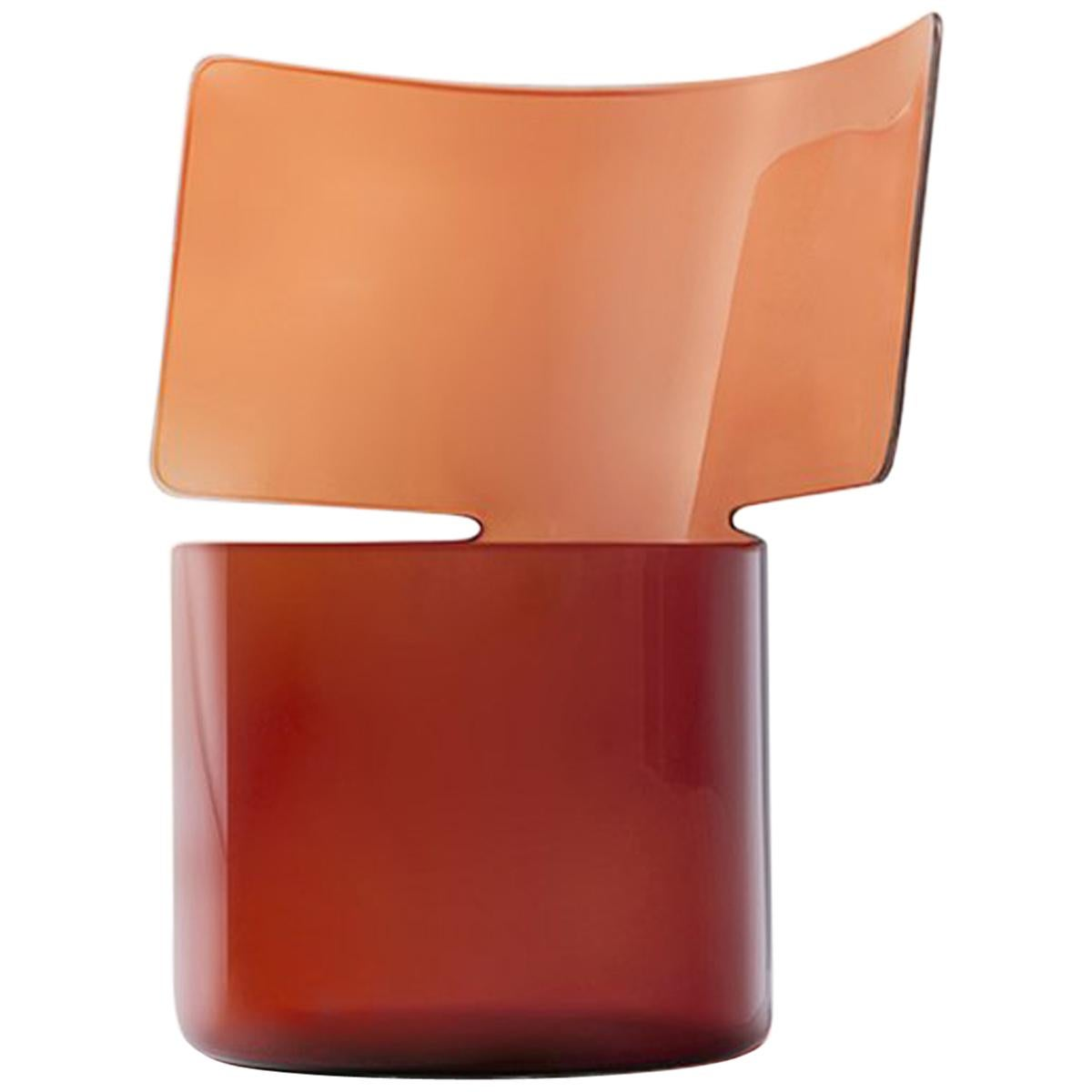 Riflessi Amber Blown Glass Vase by Böjte–Bottari