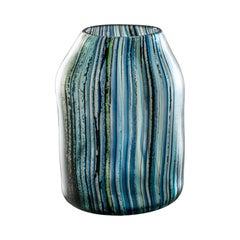 Riflessi Medium Vase in Multicolor Glass by Michela Catta