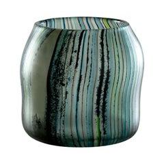 Riflessi Small Vase in Multicolor Glass by Michela Catta